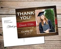 graduation thank you card graduation thank you etsy