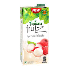lychee juice tropicana frutz lychee blush 1ltr tetra pack fruit drinks