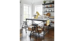 kitchen island marble top kitchen island crate and barrel