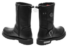 mens black leather riding boots 96137 harley davidson mens paxford black leather mid cut boot