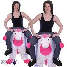 unicorn halloween piggy back unicorn halloween mascot fancy dress costume step in