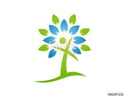 logo tree abstract cross symbol religious icon stock image