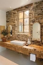 Rustic Cabin Bathroom - love this rustic cabin bathroom make mine rustic pinterest