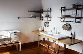 Pipe Shelves Kitchen by Steal This Look Hudson Milliner Kitchen In New York Remodelista