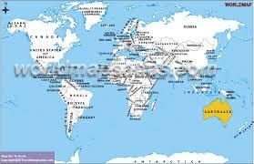 australia world map location australia map location major tourist attractions maps
