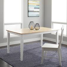 Shaker Dining Room Chairs Simple Living Large Shaker Dining Table In White And Natural