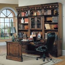 parker house barcelona 7 piece bookcase with peninsula desk