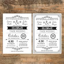 Diy Wedding Invitations Templates Diy Wedding Invitation Templates Free