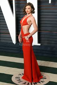 Vanity Fair Gowns And Robes Miranda Kerr Cutout Red Celebrity Prom Dress Vanity Fair