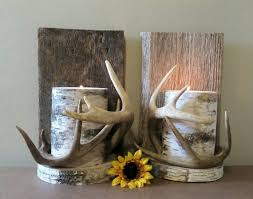 Antler Wall Sconce Deer Antler Decor Wall Antlers Sconce Real Antlers Birch Candle