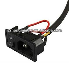 ac power socket with switch and soldering wire buy socket with