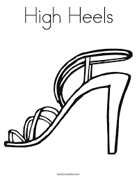 High Heels Coloring Page Twisty Noodle Coloring Pages For High