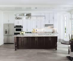 White Cabinets Kitchen Gray U0026 White Cabinets In Two Tone Kitchen Aristokraft