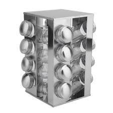 Revolving Spice Rack 20 Jars Carousel Spice Rack Ebay