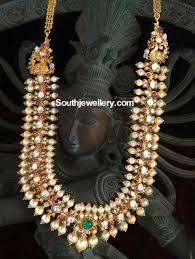 Buy Kasu Mala Lakshmi Ji Fusion Polki Diamond Kasu Mala Diamonds Diamond And Indian