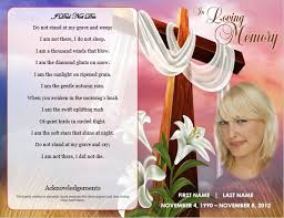 Funeral Card Template Funeral Program Template Cross Theme Memorial Service Template