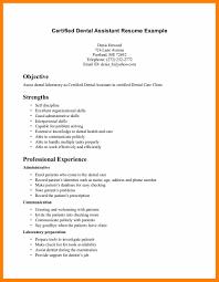 Good Dental Assistant Resume 6 Registered Dental Assistant Resume Quotation Samples