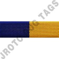 blue and gold ribbon royal blue and gold ribbon optional color awards