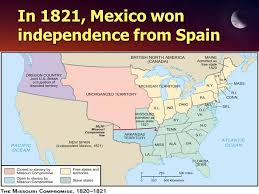 map of mexico 1821 independence for ppt