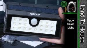 mpow solar light instructions mpow solar light youtube