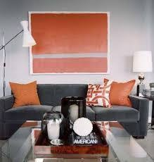 Gray And Orange Bedroom Astonishing Contemporary Bedroom In Grey Wall Painting Completed