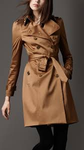 burberry london women s sateen trench coat with studded collar