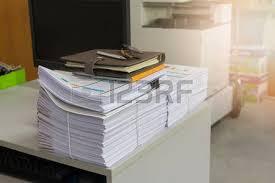 Unfinished Desk Pile Of Unfinished Documents On Office Desk Stack Of Business