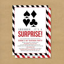 poker theme surprise party printable birthday by henandco on etsy