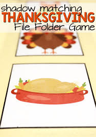 thanksgiving shadow matching file folder from abcs to acts