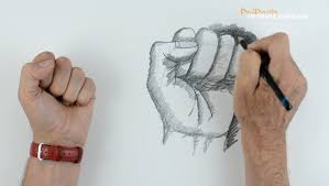 how to draw a hand part 3 fist youtube