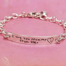 custom silver bracelets handwriting id bracelet