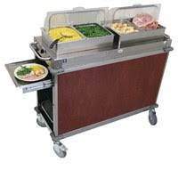 mobile buffet cart with laminate panels a3622 direct supply