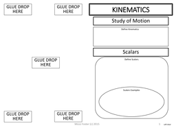 kinematics graphic organizer interactive notebook fold out