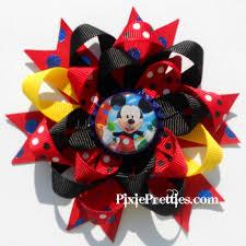 mickey mouse hair bow mickey mouse hair bow diy bows and ideas hair bow