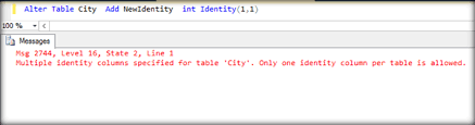Alter Table Drop Column Working With Identity Column After Table Creation In Sql Server