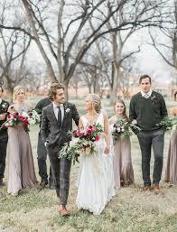 organic bohemian winter wedding deidre stefan green wedding