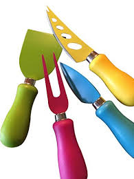 amazon com multi colored cheese knives by green owl 4 piece