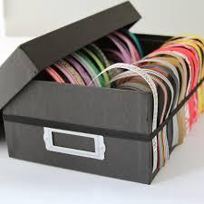 ribbon dispenser turn a shoebox into a ribbon dispenser tutorial here http