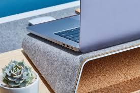 Laptop Cushion Desk by Grovemade Wood Desk Shelf System Gadget Flow