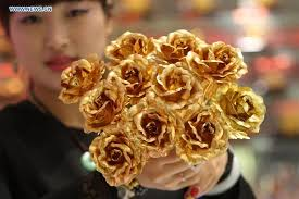 golden roses golden roses get popular prior to s day lifestyle news