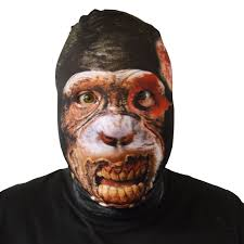 creepy mask creepy chimpanzee mask fancy dress scary