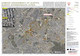 Maps Syria by Damage Assessment Of Aleppo Aleppo Governorate Syria Unitar
