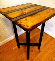 reclaimed wood pub table sets reclaimed wood pub table with metal strip by hammerfoxfurnishings