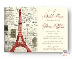 bridal shower invited red paris themed bridal shower invitation printable paris