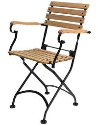 Folding Bistro Chairs 19th Century Reproduction Bistro Cafe Folding Arm Chair