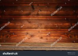 vintage wood table wood wall interior stock photo 551235052