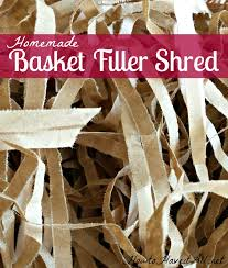 crimped paper shred diy gift basket filler shred how to it all