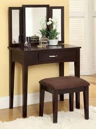 ria espresso makeup vanity table set makeup table with mirror
