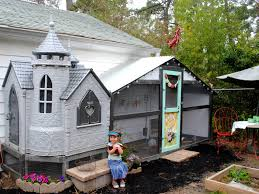 recycled castle playhouse coop backyard chickens