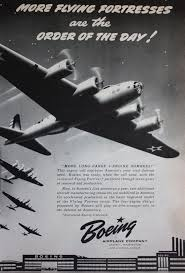 1941 ad boeing airplane flying fortress wwii bomber plane art